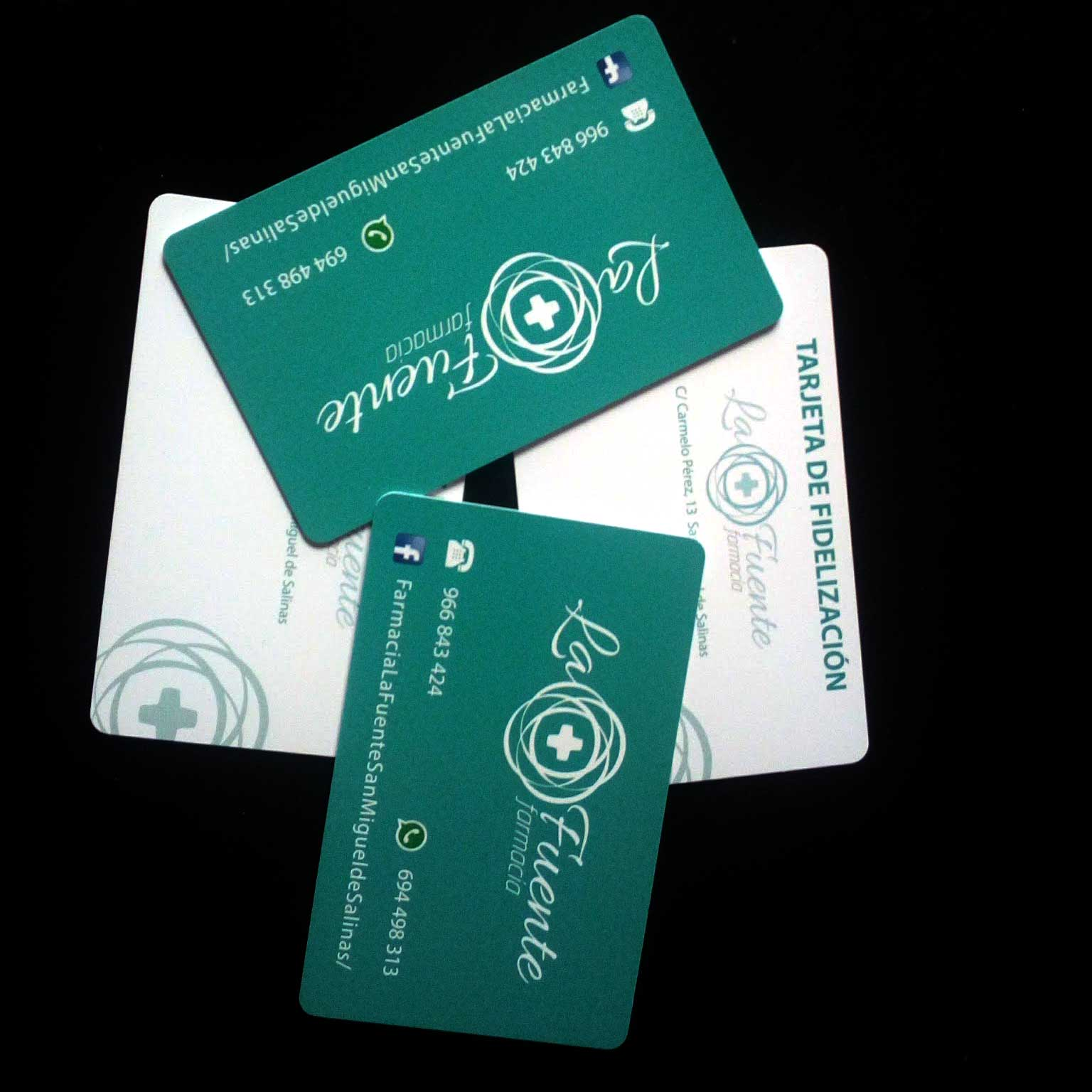 tarjetas de PVC