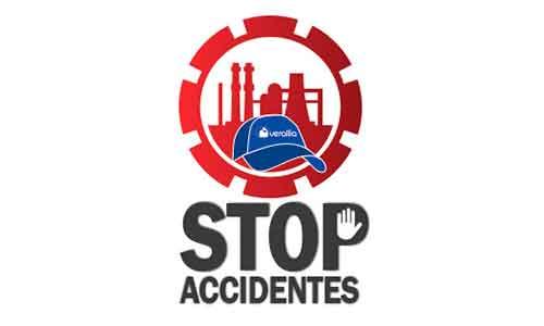 Logotipo Stop Accidentes Verallia