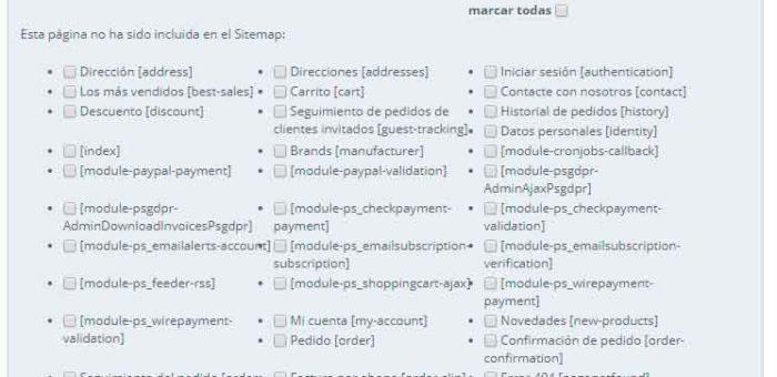 Sitemap Prestashop Solucionado